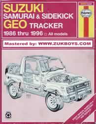 Manual Suzuki Samurai/Sidekick e GEO  Tracker